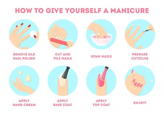 Как сделать себе маникюр дома