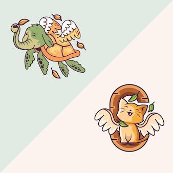 象と羽を持つ猫