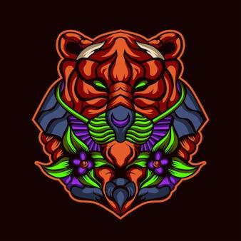 深い森の虎のアートワーク