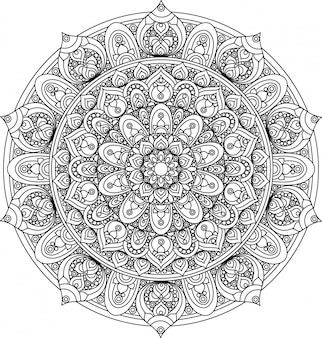 Вектор старинный орнамент мандалы