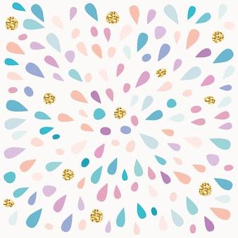 塗りつぶしの祭りのパターン。