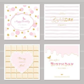 Симпатичные открытки для девочек.