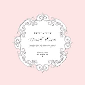 結婚式招待状のテンプレート