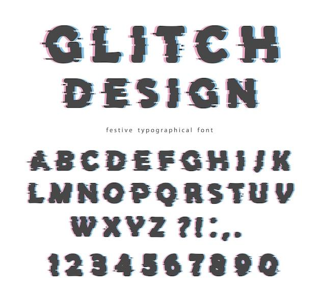 Дизайн шрифта с глюком