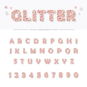 Блеск порошок розовый шрифт.