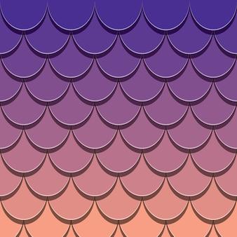 マーメイドテールパターン。