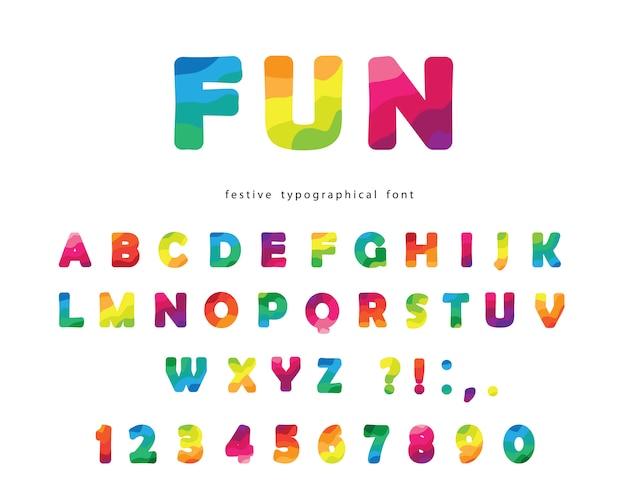 Современный красочный шрифт