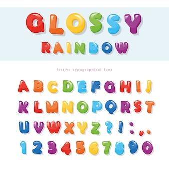 Праздничная азбука букв и цифр.