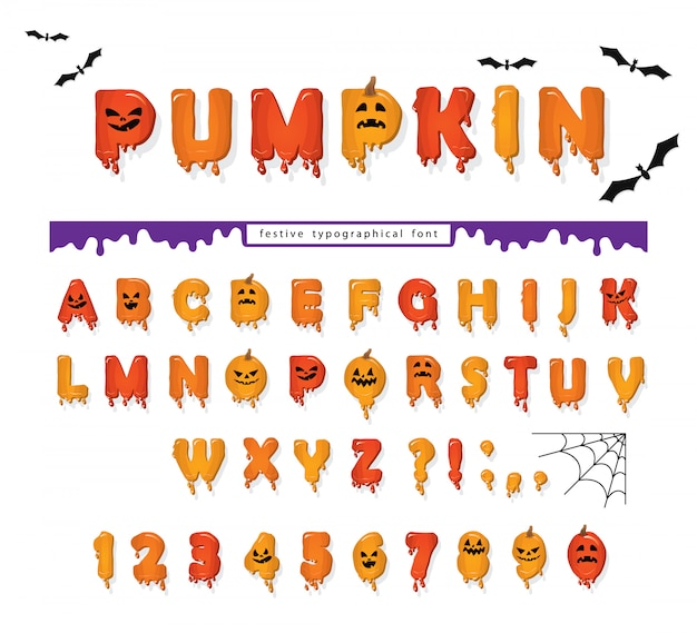 Хэллоуин тыква шрифт