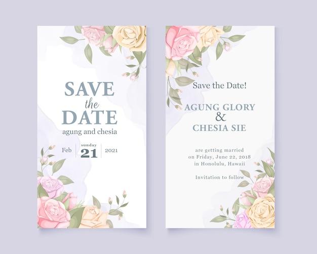 結婚記念日招待カード