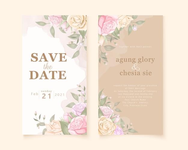 ソーシャルメディアストーリーの美しい結婚式の招待状