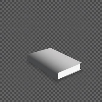 現実的なブックモックアップのベクトル図。