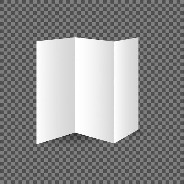 バイ折り畳みまたは半折りのパンフレットのモックアップのベクトル図