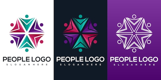 Абстрактный логотип людей