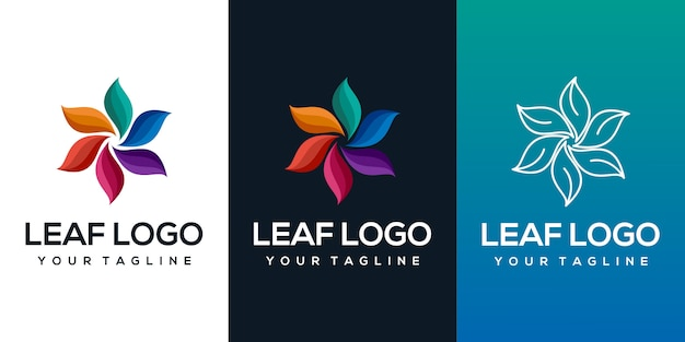 Абстрактный лист логотип