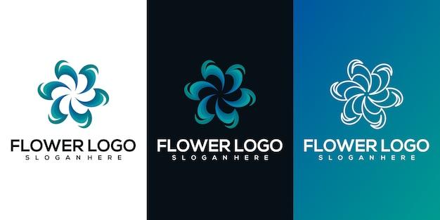 Абстрактный цветок логотип