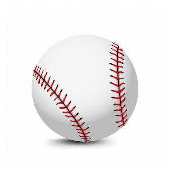 Реалистичная бейсбольный мяч иконка иллюстрация