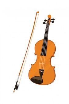 ヴァイオリン楽器ツールベクトル図