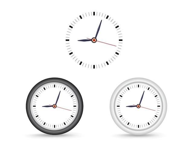 シンプルな壁時計。ブランディングと広告のモックアップ