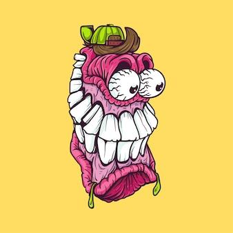 Фиолетовый персонаж-монстр