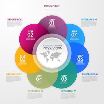 ビジネスインフォグラフィックデザインテンプレートイラスト