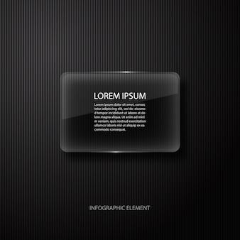 ビジネスプレゼンテーションのモダンな最小限の黒のインフォグラフィックデザイン要素。