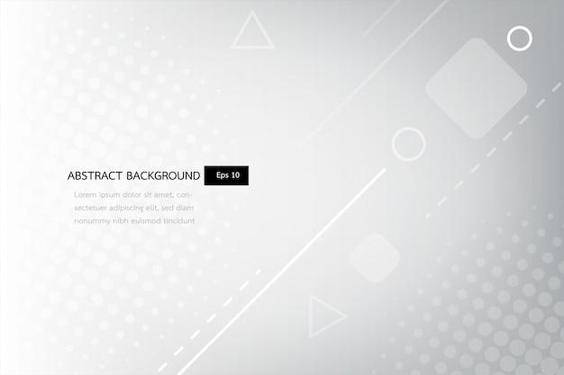 Белый и серый абстрактный градиент геометрических фигур фон, блеск и гладкий круг с футуристическим и современным шаблоном.