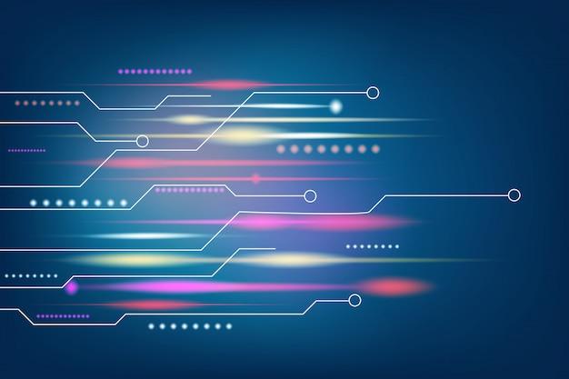 ダークブルーのテクノロジーとハイテクの抽象的な背景