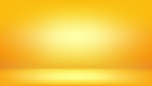 黄色の背景、抽象的なグラデーションスタジオルーム