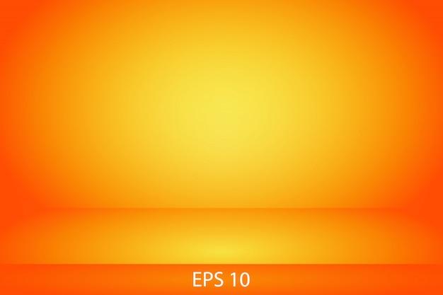 Желто-оранжевая горизонтальная студия градиента стены комнаты