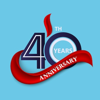 周年記念サインとロゴのお祝いのシンボル