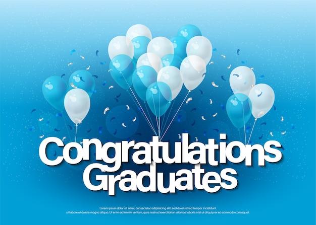 お祝いの卒業生グリーティングカードレタリングテンプレート