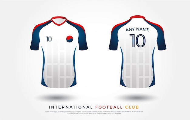 Футбольная футболка с дизайном