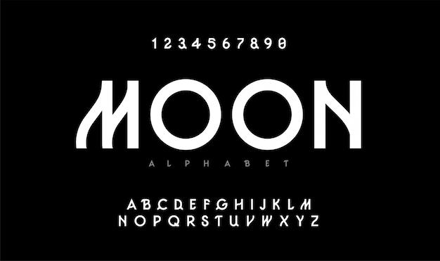 都市近代アルファベット。タイポグラフィフォント大文字