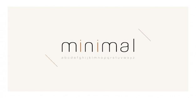 Минимальный шрифт креативная тонкая линия современного алфавита.
