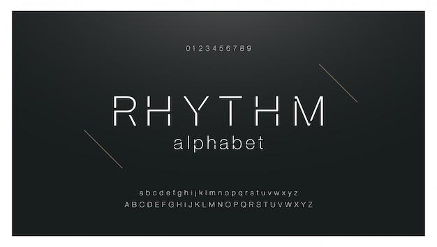 Минимальный городской шрифт моды креативные современные буквы