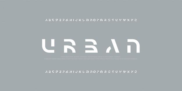 抽象的な現代アルファベットフォント。