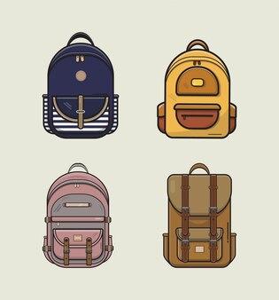 Рюкзак набор иллюстраций