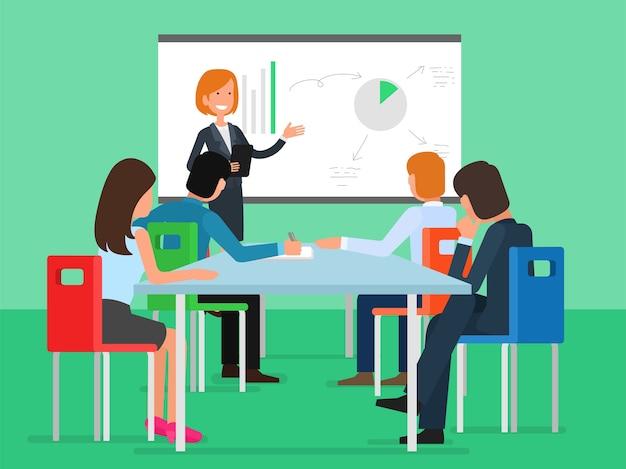 会議でのビジネスユーザーのセット