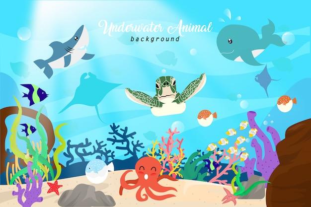 水中の動物の背景