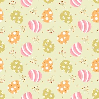 かわいいイースターエッグのシームレスパターン。