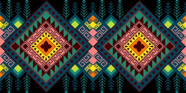 エスニックシームレスパターン