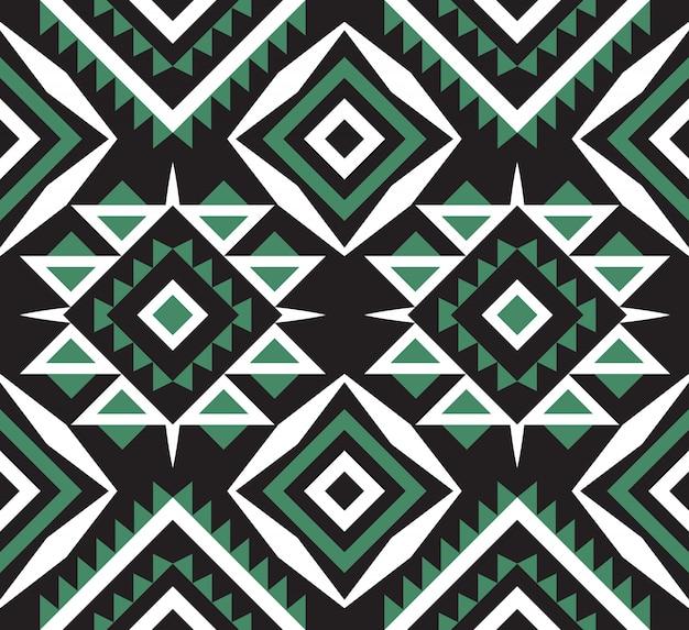 民族や部族のアステカのシームレスパターン