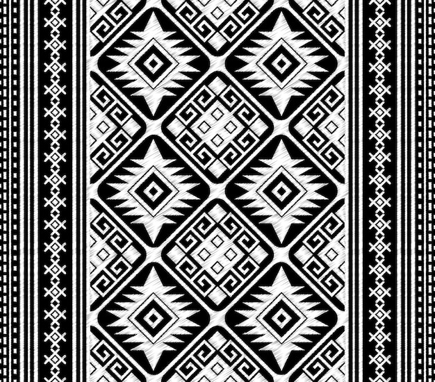 部族のアステカのシームレスなパターンを落書き
