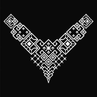 エスニックネックライン刺繍