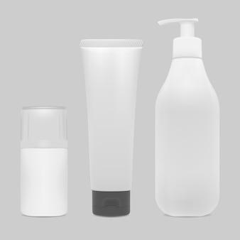 化粧品ボトルのモックアップ製品をパッケージ化します。