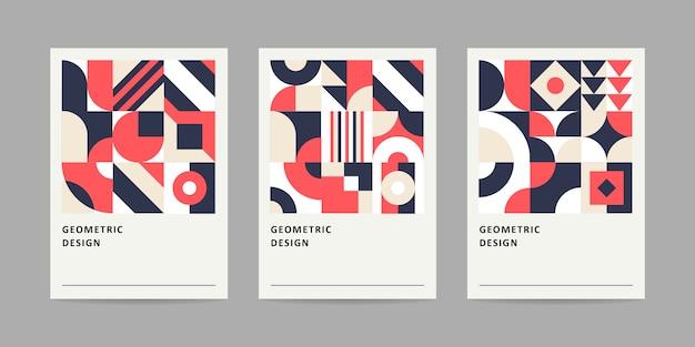 幾何学的なカードのレトロなスタイル