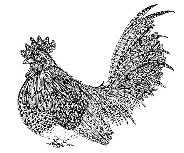 手描きの鶏の象徴