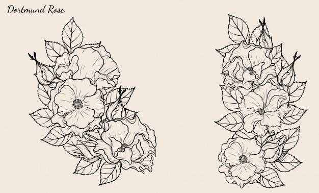 ドルトムントローズベクトル手描きで設定。