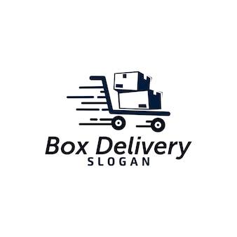 Логотип доставки коробки